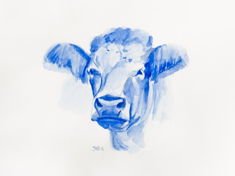 'Koe in Delfts blauw'